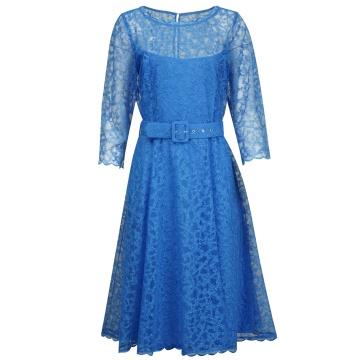 Niebieska koronkowa...
