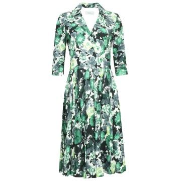 Zielona zwiewna sukienka z...