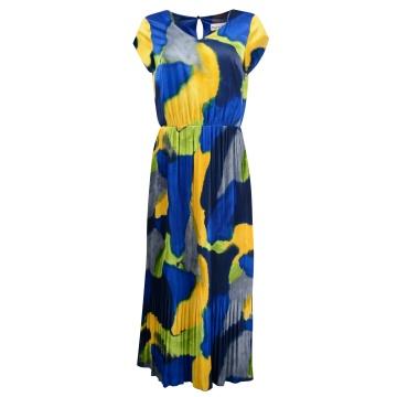 Sukienka maxi w niebieskie...