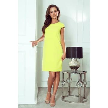 Limonkowa ołówkowa sukienka...