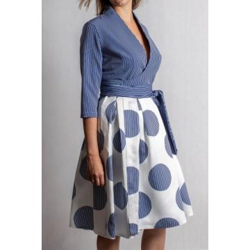 Niebieska sukienka...