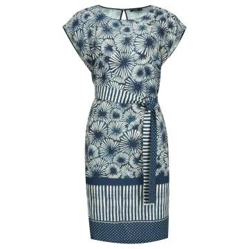 Granatowa luźna sukienka z...
