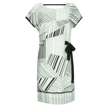 Biało-czarna luźna sukienka...