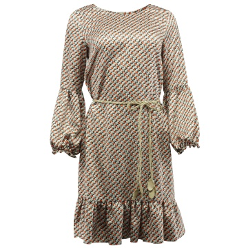 Zwiewna sukienka z falbaną...