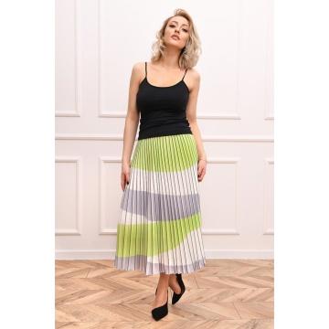 Zielona plisowana spódnica...