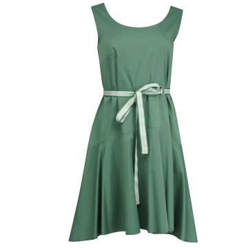 Zielona luźna sukienka z...