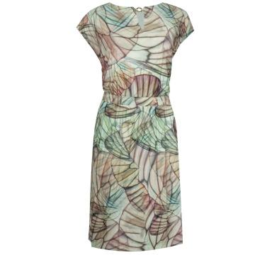 Kolorowa luźna sukienka z...
