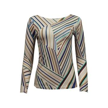 Bluzka damska w kolorowe paski