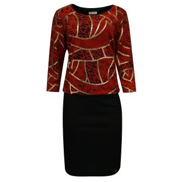 Czarno-czerwona sukienka we...