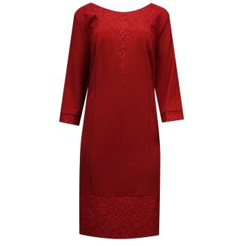 Wiśniowa sukienka z...