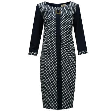 Granatowa sukienka za...