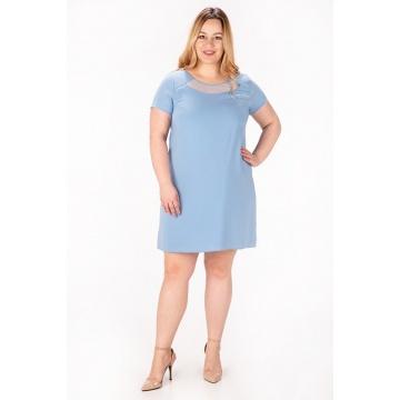 Sukienka model Angie, gołębia