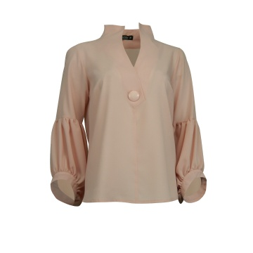 Różowa bluzka damska ze stójką