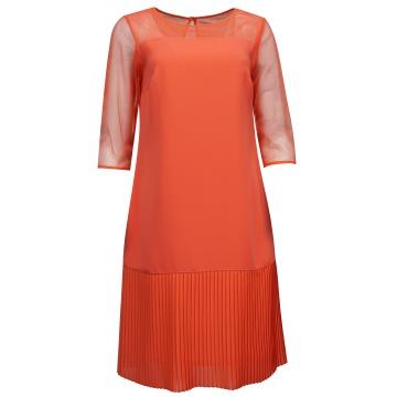 Malinowa sukienka z...
