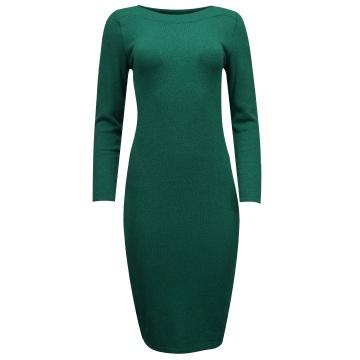 Zielona sukienka z wełny 8855