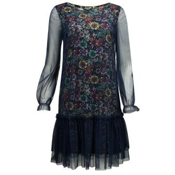 Zwiewna granatowa sukienka...