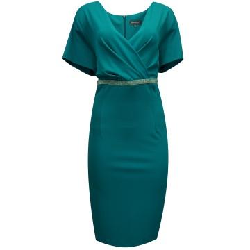 Zielona ołówkowa sukienka...
