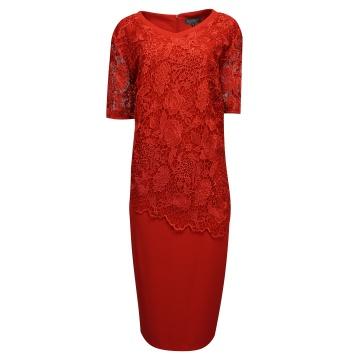 Czerwona wizytowa sukienka...