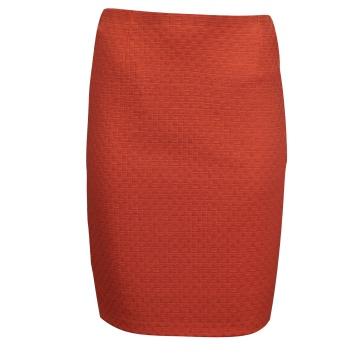 Różowa ołówkowa spódnica midi