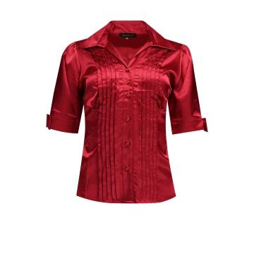 Różowa bluzka damska z satyny