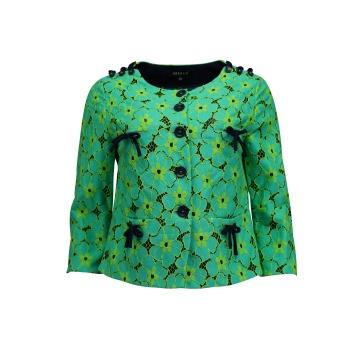 Zielony koronkowy żakiet...