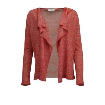 Różowy sweter damski bez...