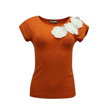 Pomarańczowa bluzka damska