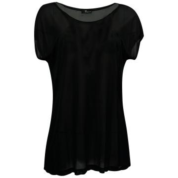 Czarna zwiewna bluzka damska