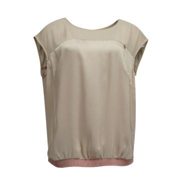 Różowa satynowa bluzka...