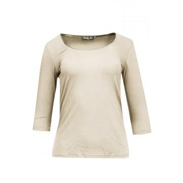 Beżowa bluzka damska 457