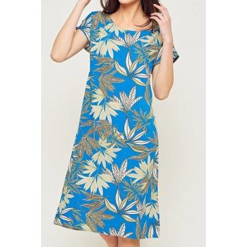 Kolorowa zwiewna sukienka...