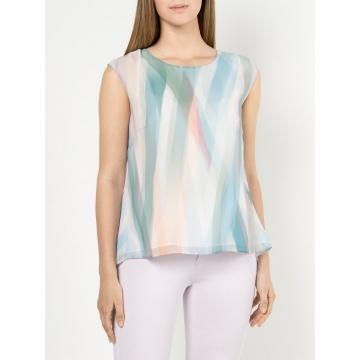 Zwiewna kolorowa bluzka...