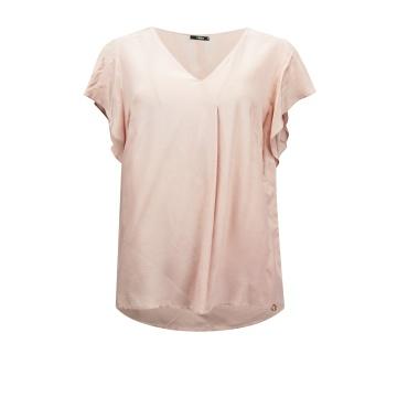 Różowa luźna bluzka damska...
