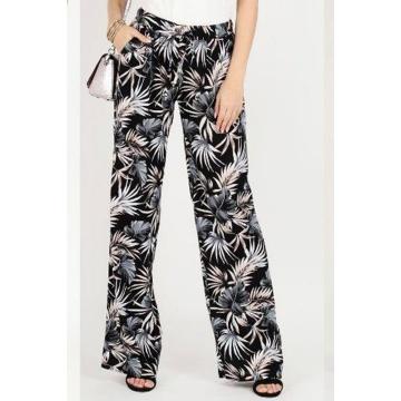 Spodnie damskie wzory liści...