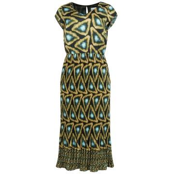 Długa sukienka z plisowanym...