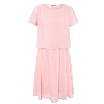 Różowa zwiewna sukienka...