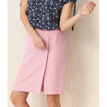 Różowa ołówkowa spódnica...