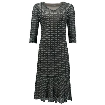 Grafitowa zwiewna sukienka...