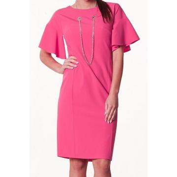 Różowa sukienka model Danuta