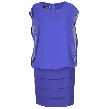 Granatowa sukienka model...