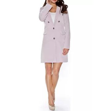 Różowy płaszcz damski na...
