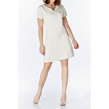 Beżowa sukienka z krótkim...