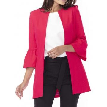 Czerwony płaszcz damski na...