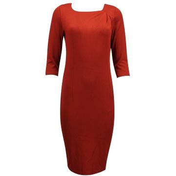 Bordowa sukienka z dzininy 387