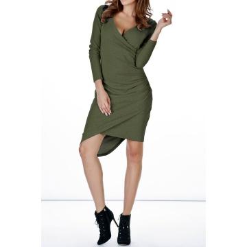 Zielona sukienka zakładana...
