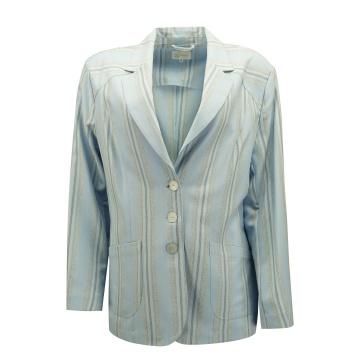 Niebieski żakiet damski w...