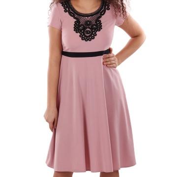 Różowa sukienka z koronkową...