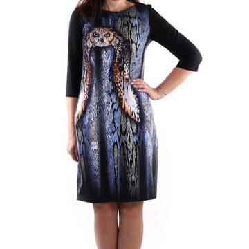 Granatowa sukienka we...