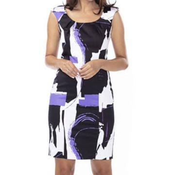 Fioletowa sukienka we...
