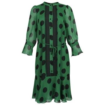 Zwiewna zielona sukienka w...